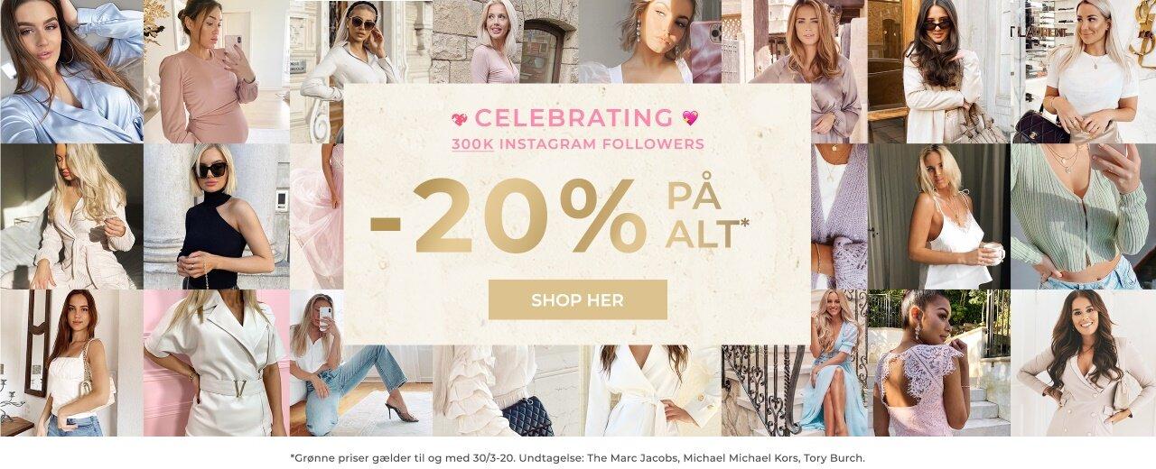 20% på alt - Shop her!