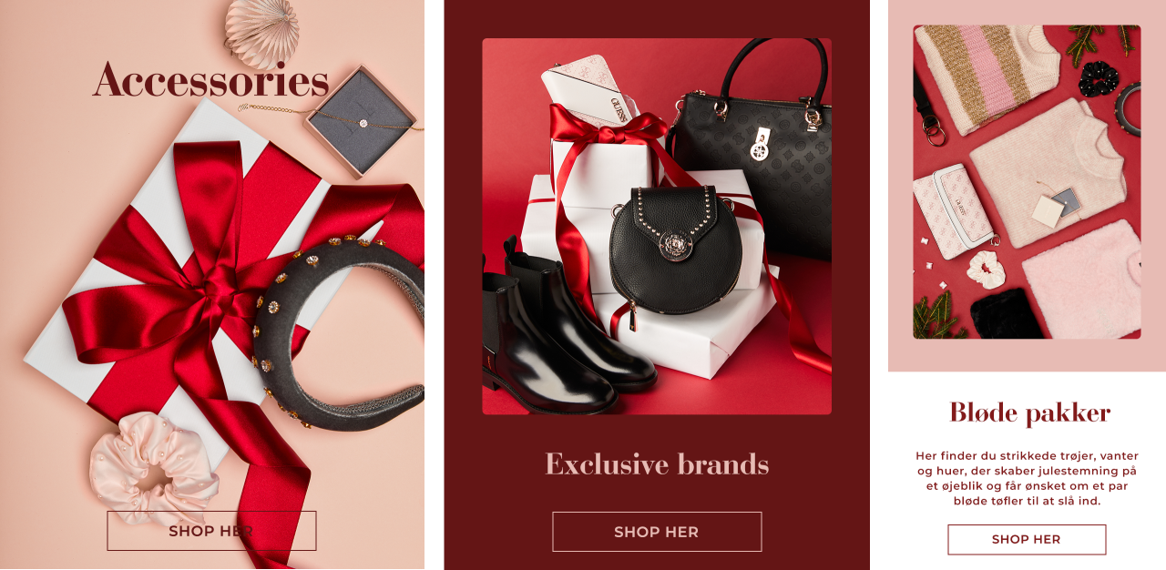 Accessories, Exclusive brands, Soft christmas presents - Shop her