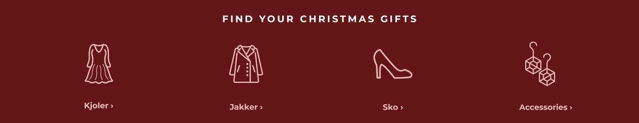 Find your christmas gift - Shop kjoler, jakker, sko & accessories her.