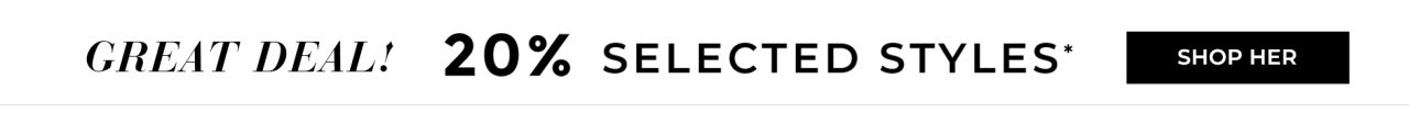 20% selected styles