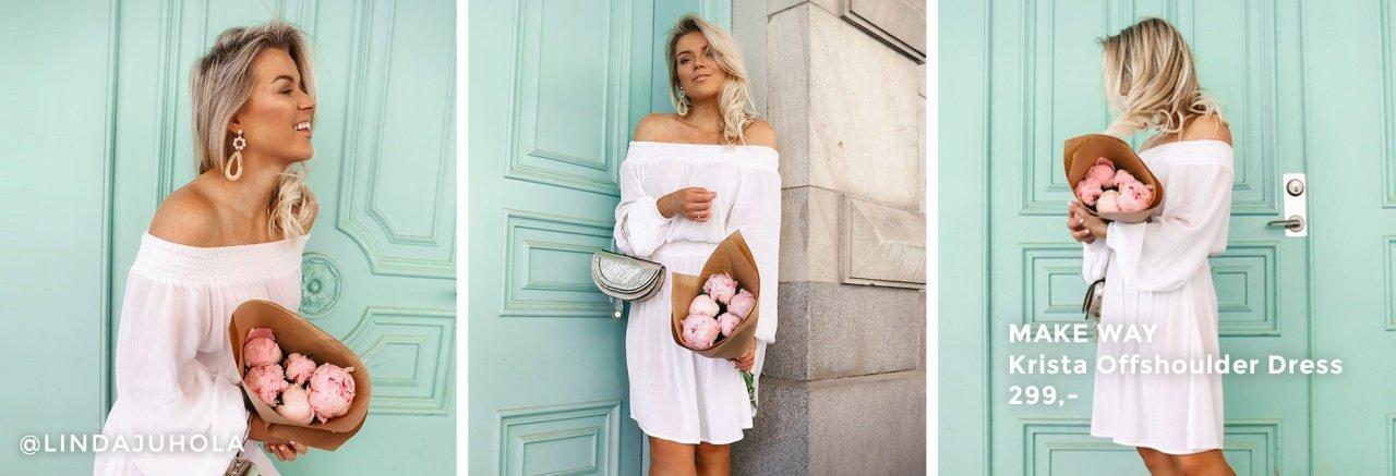 Krista offshoulder kjol