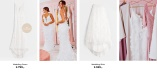 Nicole Falciani Wedding gown with 3D prints