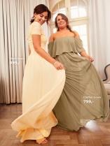 Nicole Falciani Mesh Gown og Chiffon Gown