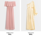 Pink Chiffon Gown og Yellow Satin Gown