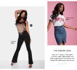 Jadah high waist flared jeans og Leona leo toppe