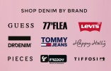 Shop Jeans fra Levis, Dr Denim, 77thFlea, Tommy Jeans, Guess och Pieces