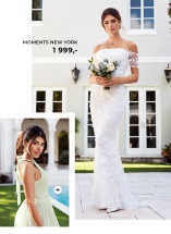 Smuk plisseret brudepigekjole