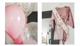 The bride squad - Bubbleroom robe in pink