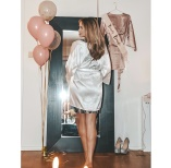 Soft bride to be robe in white