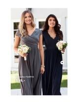 Brudepigekjoler, lange sølv og blå