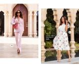 Trendy blazer i lyserød og Superflot plisseret nederdel