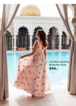 Carolina Gynning Butterfly Gown i lyserød