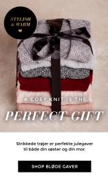 Strikkede trøjer er perfekte julegaver til både din søster og din mor!