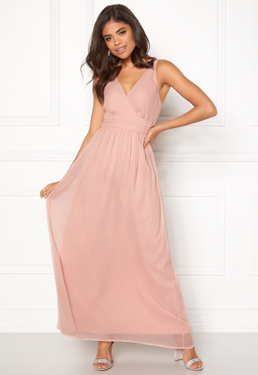 069927306c6a VERO MODA Josephine SL Maxi Dress Misty Rose - Bubbleroom