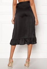 VERO MODA Henna Shine Wrap Skirt Black