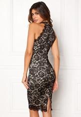 AX Paris High Neck Lace Midi Dress Black/Nude