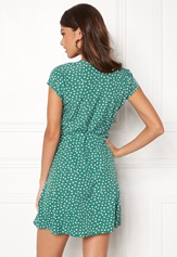 BUBBLEROOM Caylee dress Green / White / Dotted