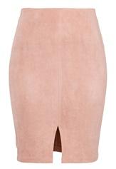 BUBBLEROOM Gossip suede skirt Dusty pink