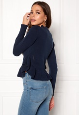 BUBBLEROOM Livia knitted sweater Dark blue