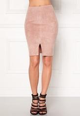 BUBBLEROOM Gossip suede skirt Dusty pink Bubbleroom.dk