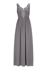 Chiara Forthi Camille Embellished Dress Silver