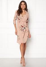 Girl In Mind Wrap around Dress Flower