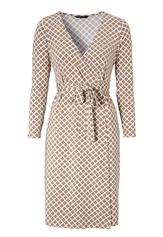 Happy Holly Millie wrap dress Sand / Offwhite