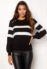 Happy Holly Sasha sweater Black Bubbleroom.dk
