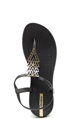 Ipanema Charm Sandal Black/black gold