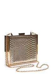 New Look Britney Box Clutch Gold