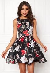 Sisters Point GTI Dress Black/Flower Bubbleroom.dk
