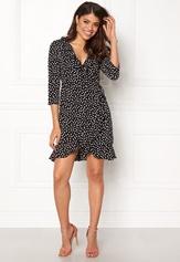 VERO MODA Henna Dot 3/4 Wrap Dress Black