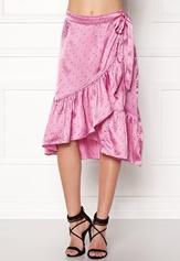 VERO MODA Henna Satin Wrap Skirt Opera Mauve Bubbleroom.dk