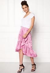 VERO MODA Henna Satin Wrap Skirt Opera Mauve