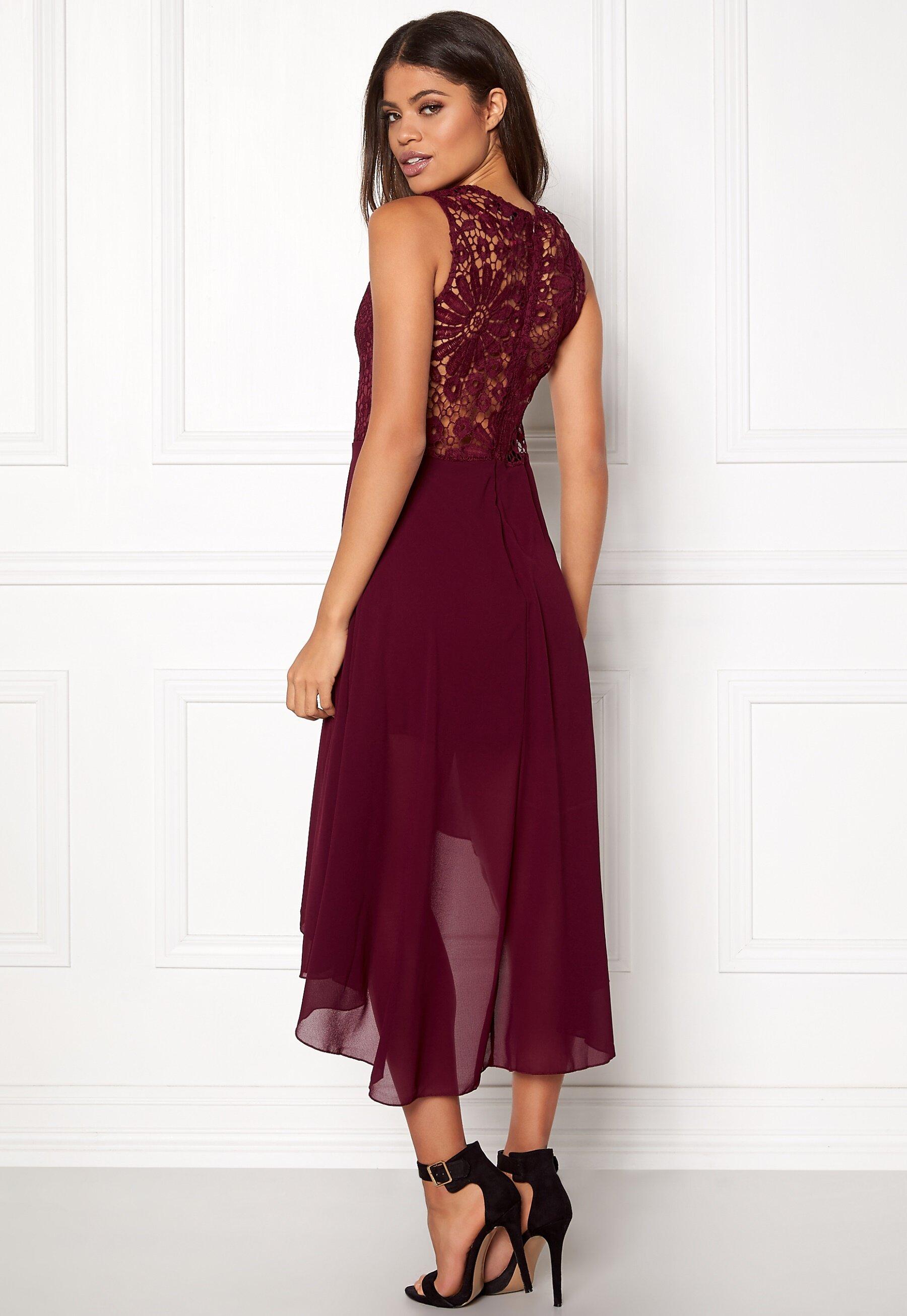 Nude Crochet Detail Double Strap Maxi Dress - AX Paris