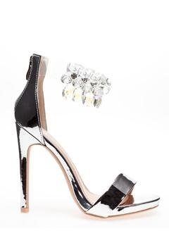 Glossy Sandaletter, Candy Silver Bubbleroom.dk
