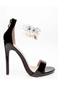 Glossy Sandaletter, Candy Svart Bubbleroom.dk