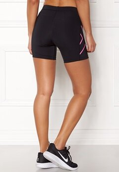 2XU Core Compression Shorts Black/Fluro Pink Bubbleroom.dk