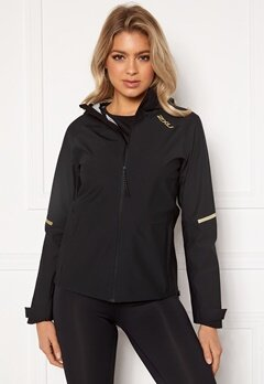2XU GHST WP Jacket BLK/GRF Black/Gold R Bubbleroom.dk