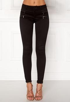 ONLY Royal Skinny Zip Jeans Black Bubbleroom.dk