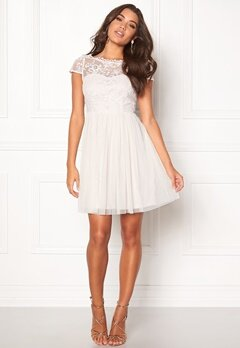 VILA Ulricana Short Dress Snow White Bubbleroom.dk