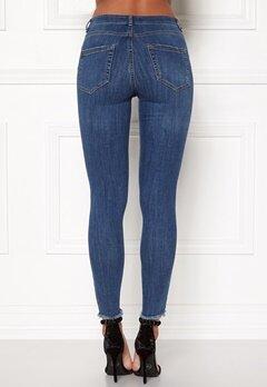 Pieces Five Delly Cropped Jeans Medium Blue Denim Bubbleroom.dk