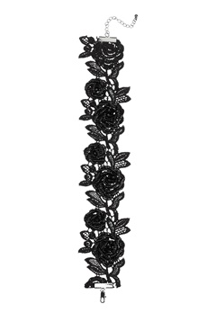 Pieces Rosille Choker Black Bubbleroom.dk