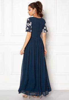 AngelEye Short Sleeve Sequin Dress Navy Bubbleroom.dk