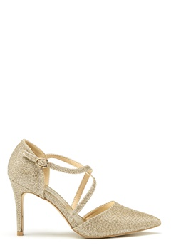 New Look Shimmer Cross Strap Heel Gold Bubbleroom.dk