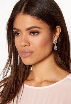 SNÖ of Sweden Noemi Drop Earrings Silver/Clear Bubbleroom.dk
