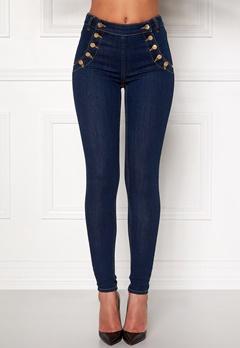 77thFLEA Adina highwaist jeans Midnight blue Bubbleroom.dk