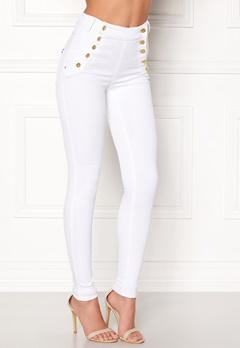 77thFLEA Adina highwaist jeans White Bubbleroom.dk