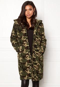 77thFLEA Claire teddy jacket Camouflage Bubbleroom.dk