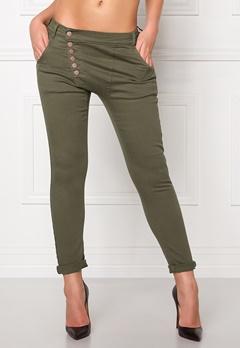 77thFLEA Deanne girlfriend jeans Green Bubbleroom.dk
